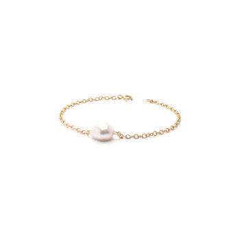 Guld armbånd perle