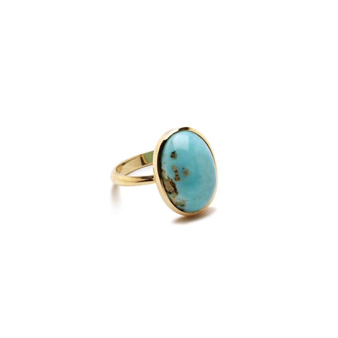 Guld ring med sten