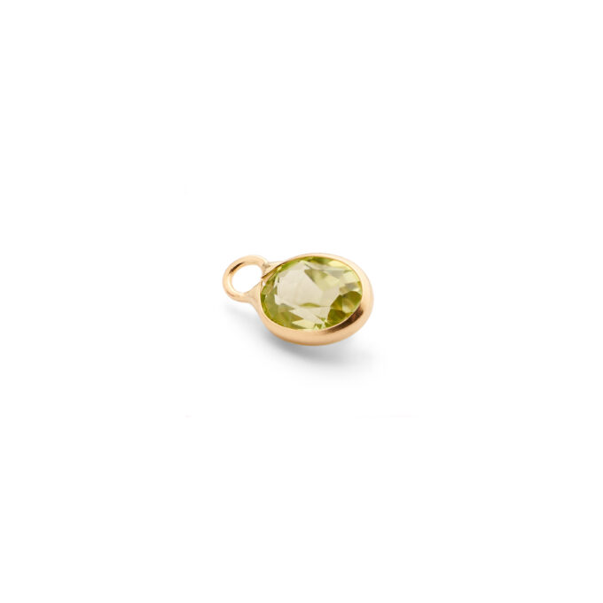 Guld vedhæng halskæde ædelsten