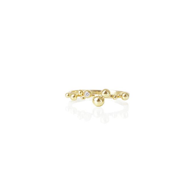 Guld ring diamant