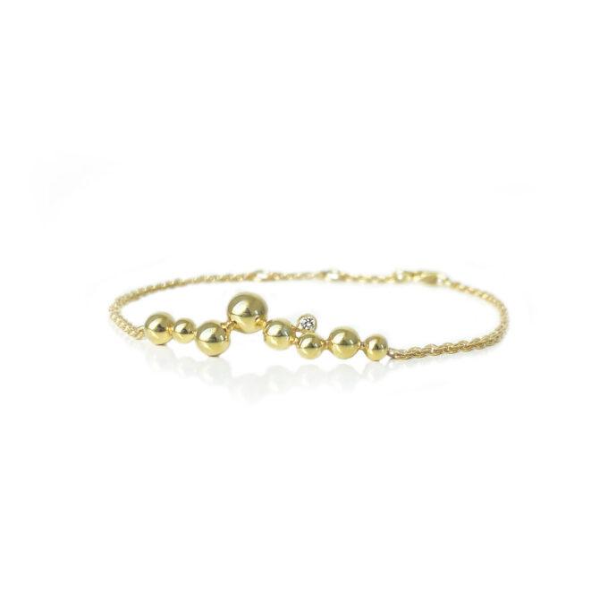 Guld armbånd diamant