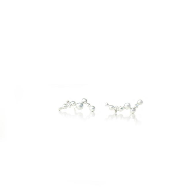 Øreringe sølv sten