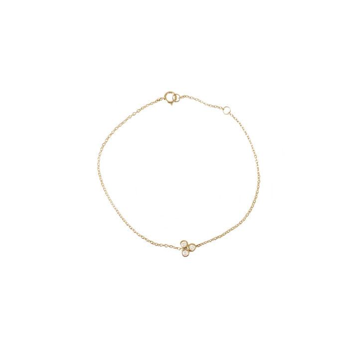 Guld armbånd med diamanter