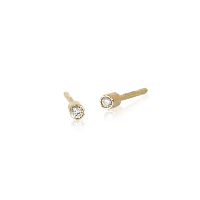 Guld ørering med diamanter